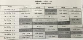 HORARIO 6º E.P. 16-17