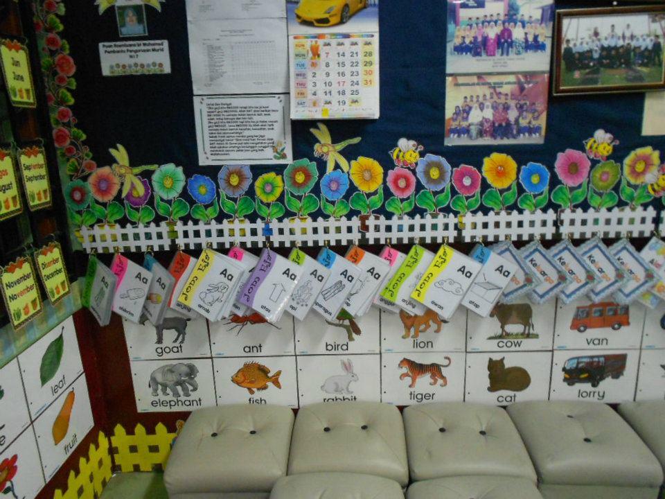 Little kelly kindergarten persekitaran dalaman tadika for Mural untuk kanak kanak