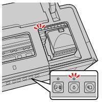 Мигающий световой индикатор картриджей