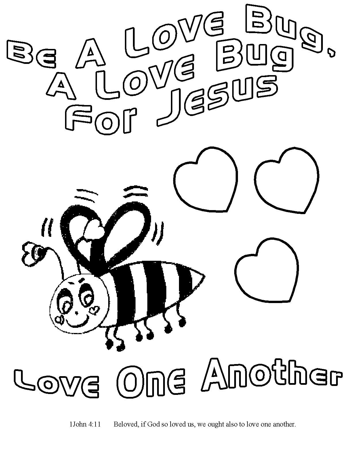 Childrens Gems In My Treasure Box Love Bug For Jesus Coloring Pages