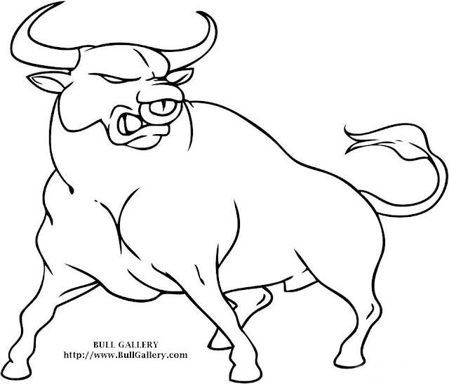 Coloring Bull Cartoon