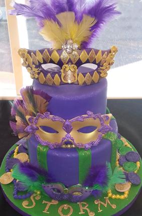Cakery Creation Mardi Gras Cakes In Daytona Beach Florida