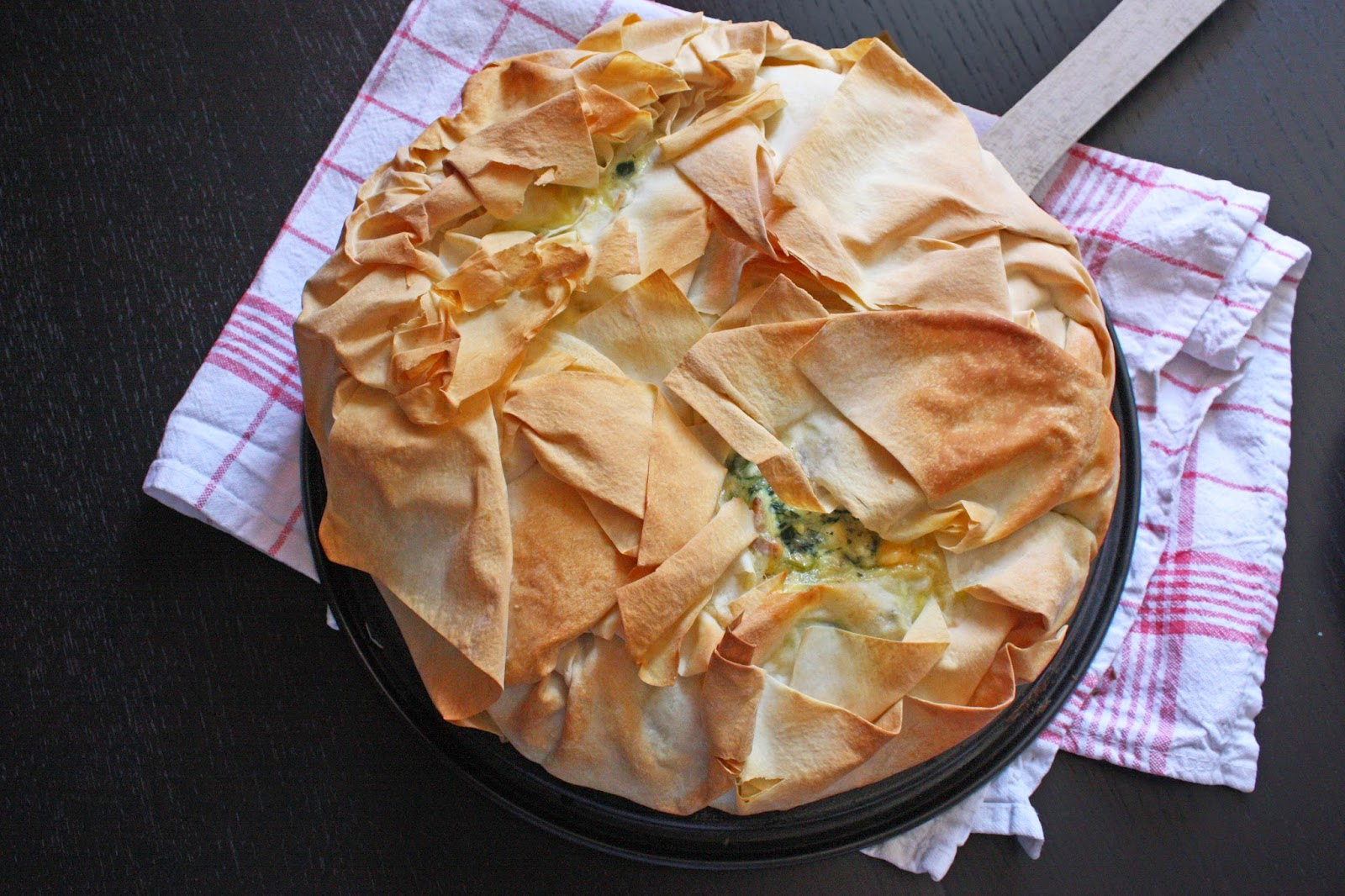 Spinat feta kuchen jamie oliver