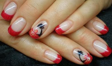 Nails With Red Outline
