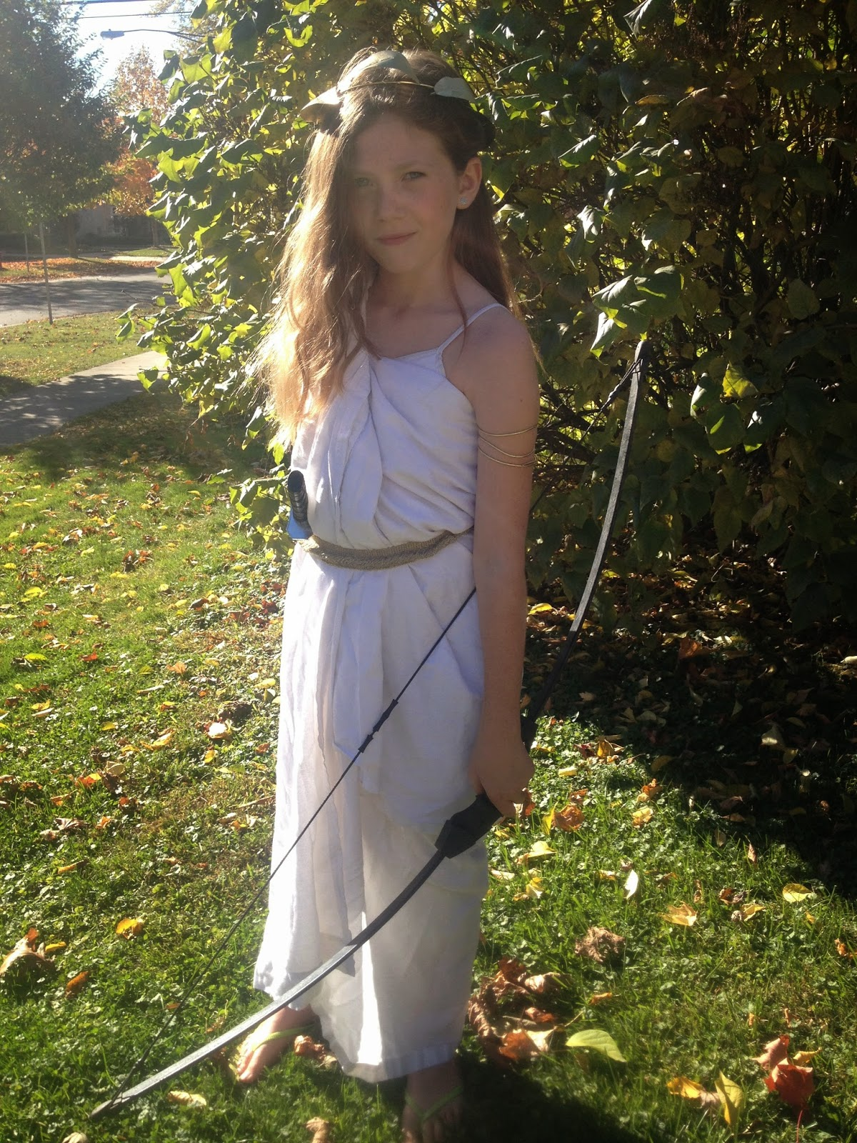 Jumping with my Fingers Crossed: DIY Artemis Costume (A ...
