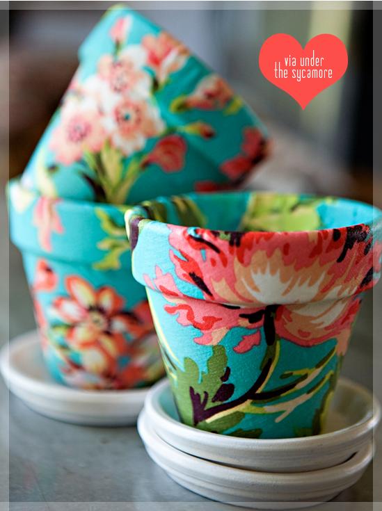 Vasos De Flores   Tecido