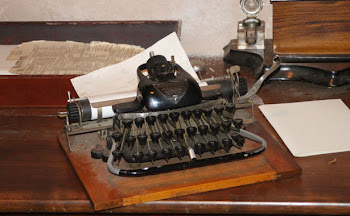 Old-fashioned typewriter