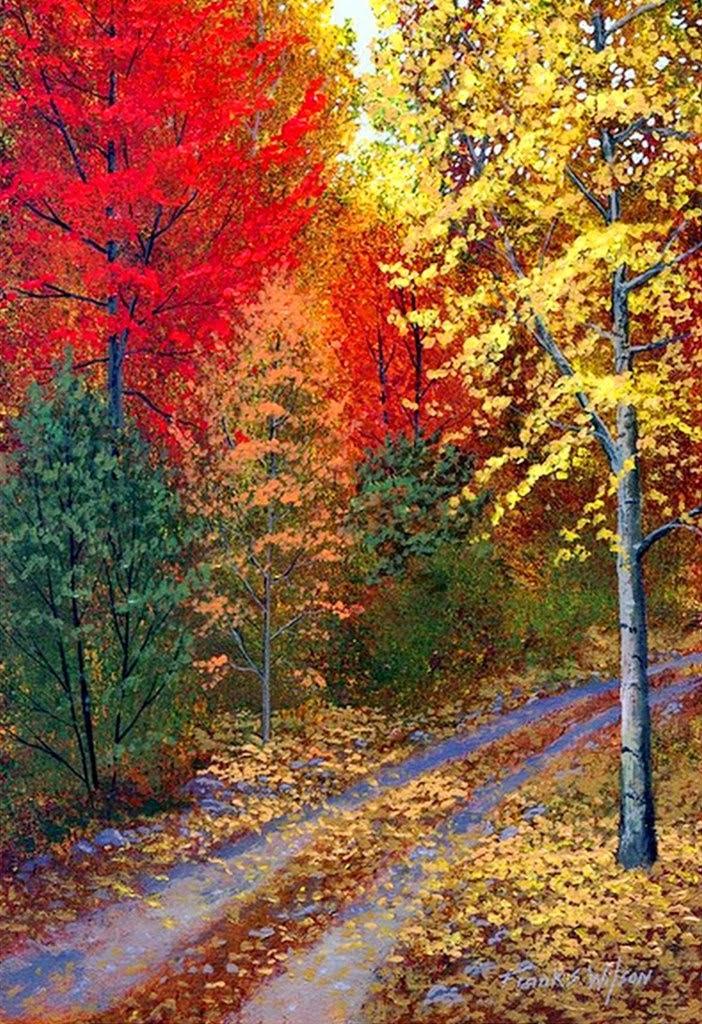 Imágenes Arte Pinturas: Paisajes Bosques del Otoño, Obras de Frank ...