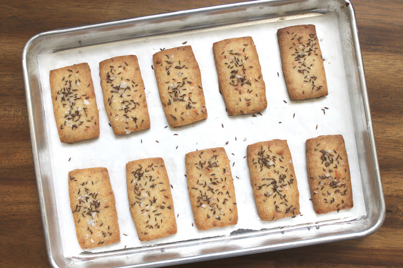 Parmesan Shortbread with Caraway and Sea Salt - The Little Epicurean