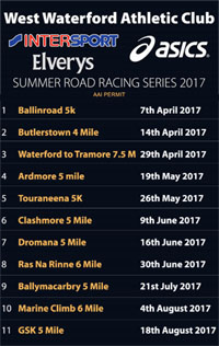 Waterford Race Series...Apr-Aug 2017