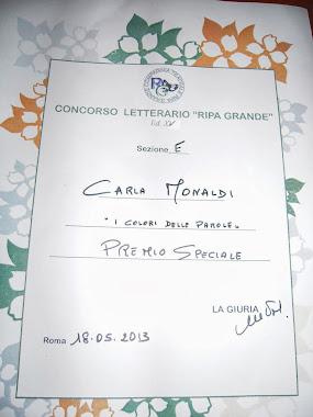 """Premio Speciale Ripa Grande 2013 per il racconto """"I colori delle parole"""""""