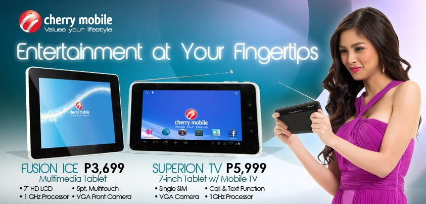 Cherry Mobile tablets with SUPERION TV and FUSION ICE, Specs, Price