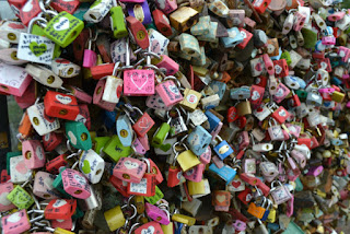 Love locks at the CN Tower, Seoul