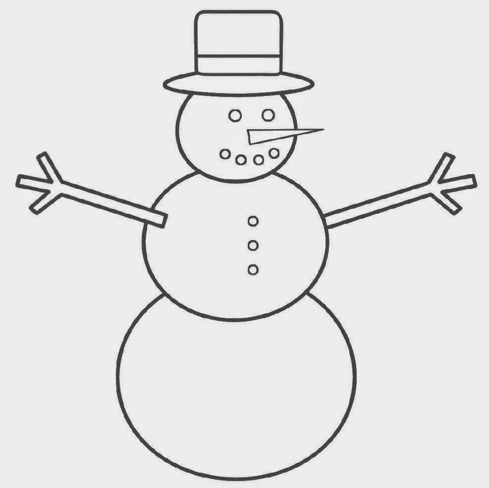 snowman coloring pictures free coloring pictures