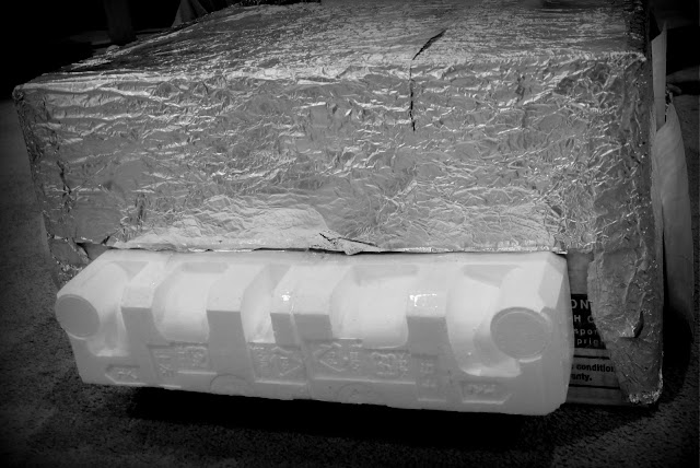 cardboard box car using cellophane