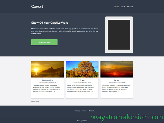 download wordpress free landing page templates. Black Bedroom Furniture Sets. Home Design Ideas