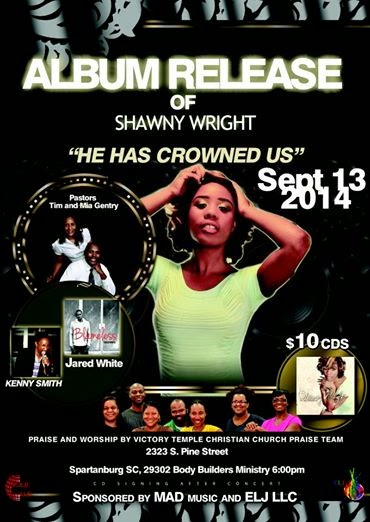 ***ALBUM RELEASE*** OF SHAWNY WRIGHT