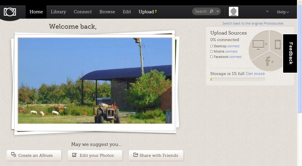 Photobucket new interface in beta