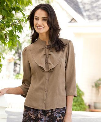 collar neck top blouse