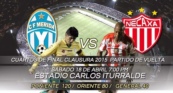 Links Mérida vs Necaxa en VIVO
