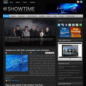 ShowTime style blog template. template image slider blog. magazine blogger template style. wordpress theme to blogger