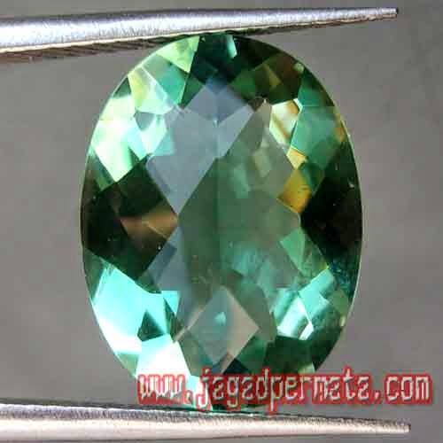 Batu Permata Natural Green Quartz Prasiolite
