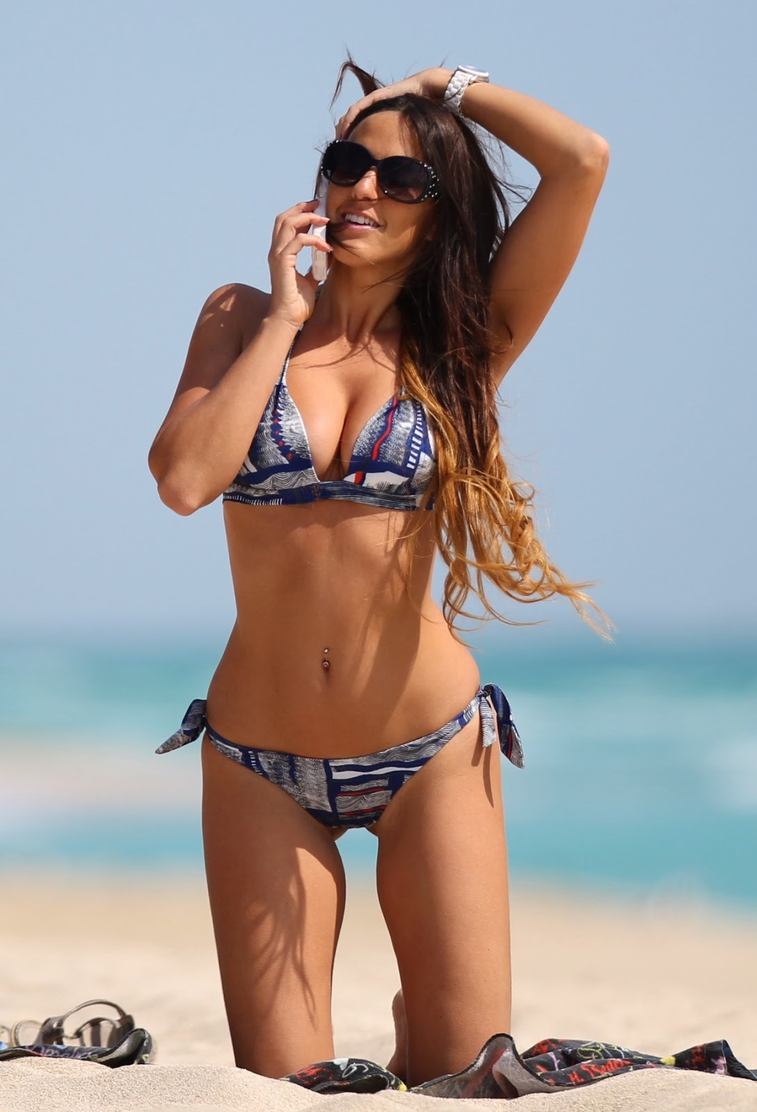Claudia Romani in Bikini Candids on the Miami Beach