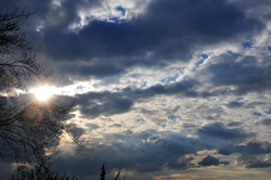 Und noch ein Himmel des heutigen Tages...