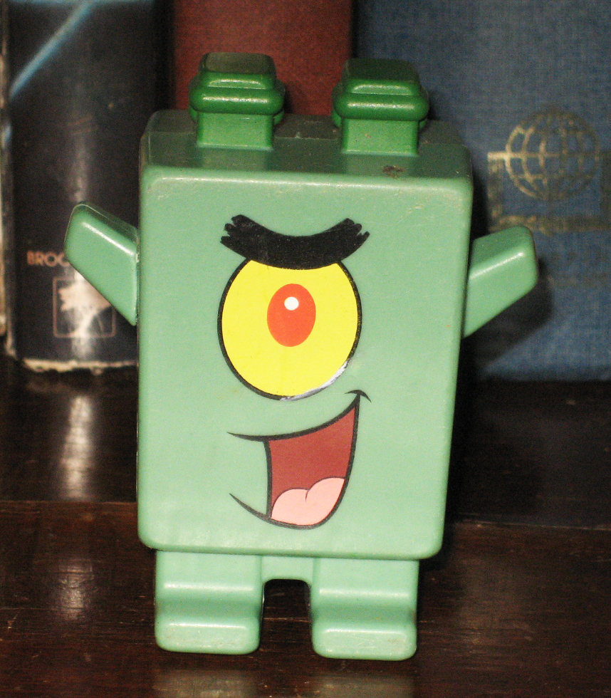 Fast Food Toys : Percy s fast food toy stories green spongebob bk