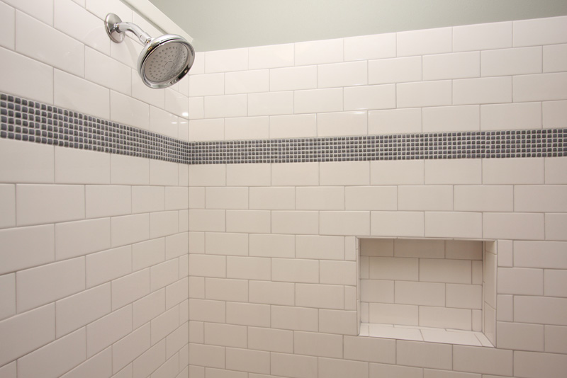 A work in progress tiling the shower for What is subway tile