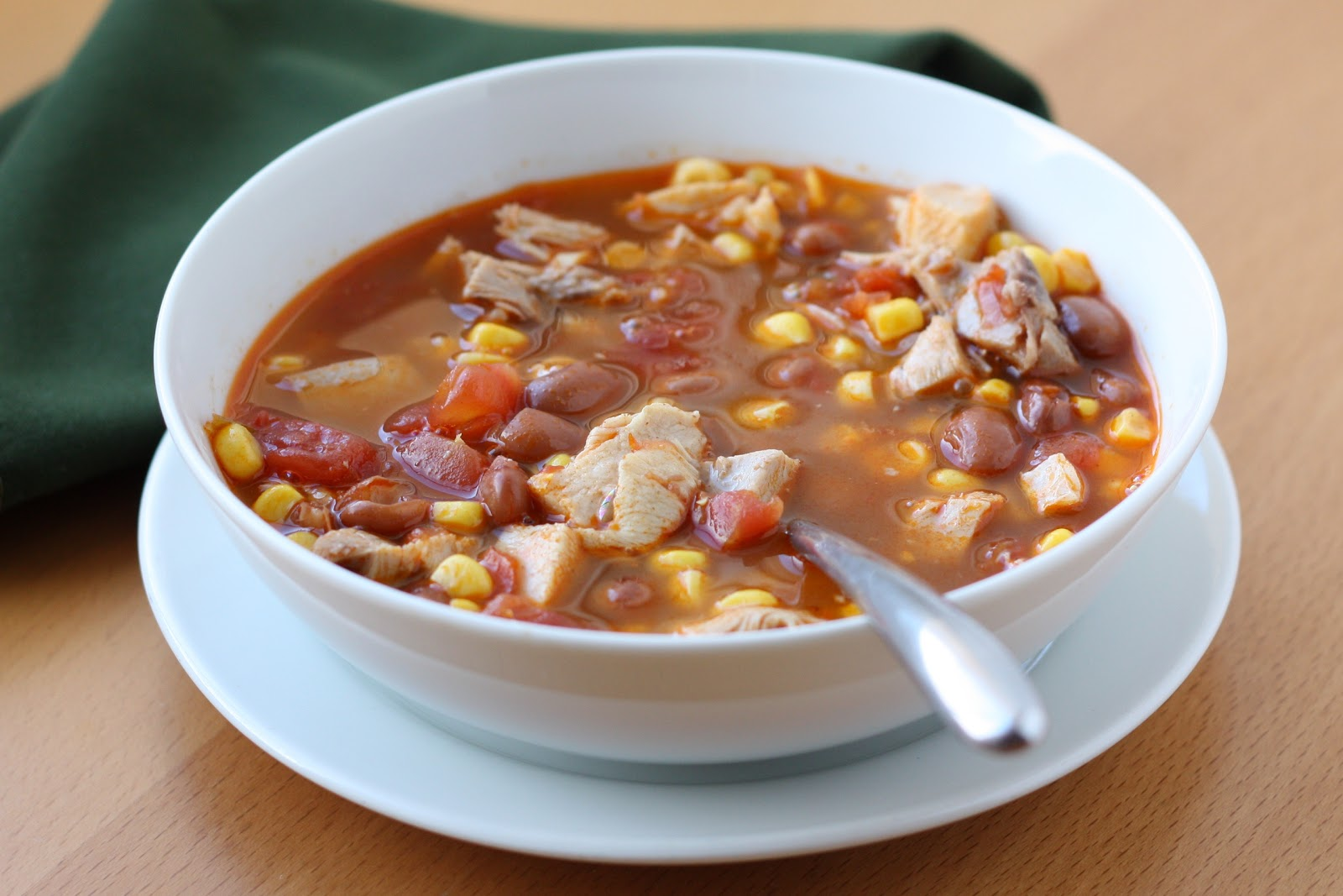 Barefeet In The Kitchen: Ranch Style Chicken and Bean Soup