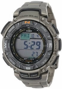 "Casio Men's PAG240T-7CR ""Pathfinder"" Triple-Sensor Multi-Function Titanium Watch"