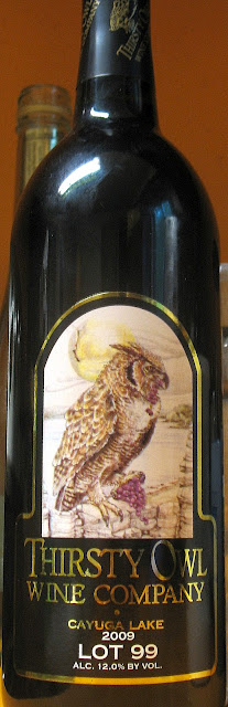 A bottle of Thirsty Owl Wine Company 2009