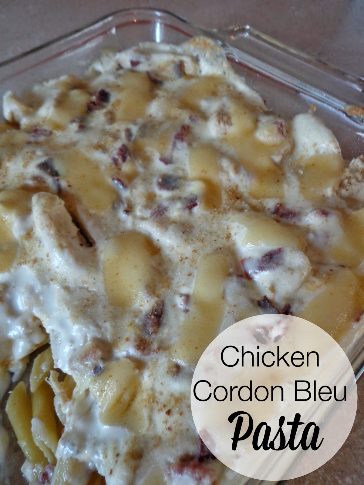 Chicken Cordon Blue Pasta, Life as I know it, Foodie Friday, recipes