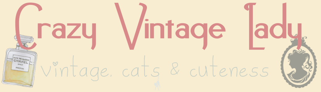 Crazy Vintage Lady - vintage, cats & cuteness