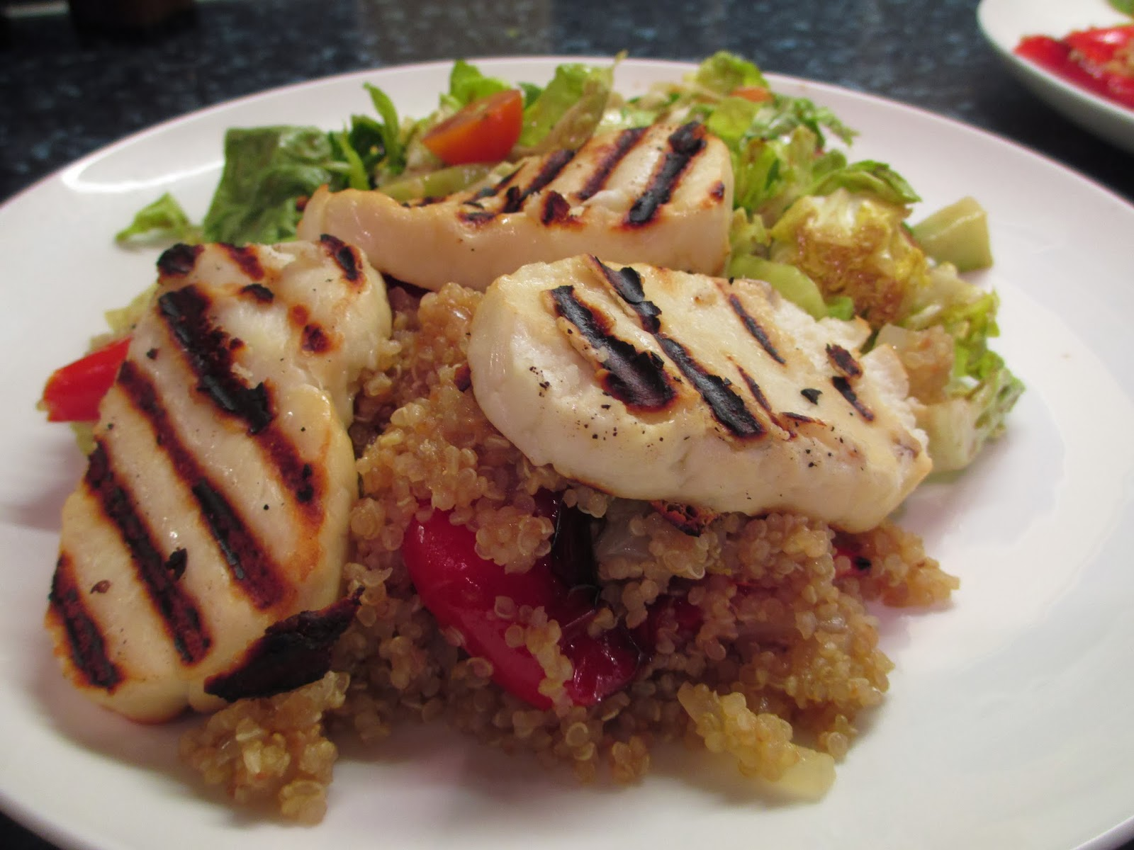 grilled zucchini with quinoa stuffing grilled lemongrass chicken with ...