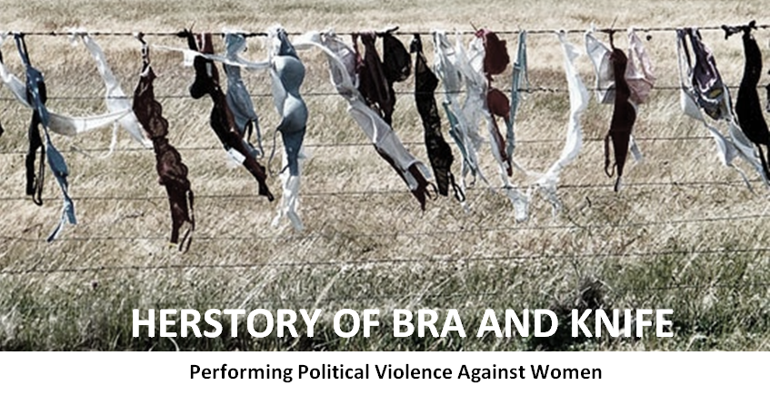 Herstory of bra and knife