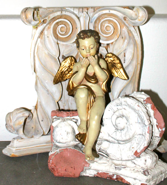 french decor, french style, Christmas home tour, cherub