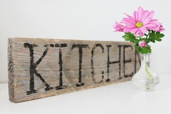 Tablón para la cocina