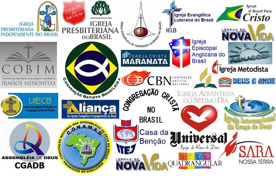 Resultado de imagem para igrejas evangélicos brasileiros
