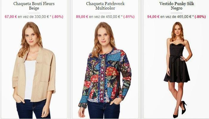 Ejemplos de ropa de la marca Manoush con el 80% de descuento.