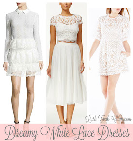 Spring Style Trends: Dreamy White Lace Dresses.