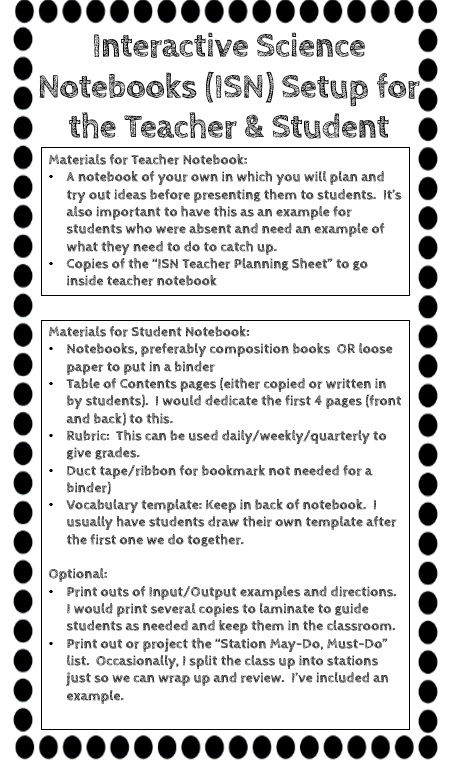 Beg, Borrow, and Teach!: Interactive Science Notebook Setup FREEBIE