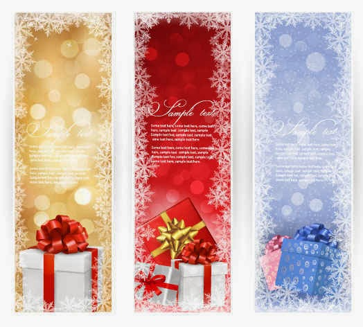 Christmas Gift banner background