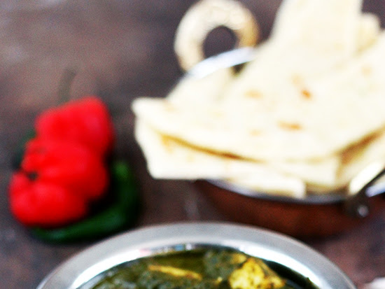 Palak Paneer - Cottage Cheese in a Spinach Gravy