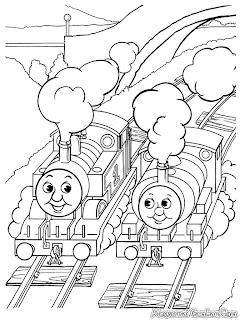 Mewarnai Gambar Kereta Api Untuk Anak TK Dan SD
