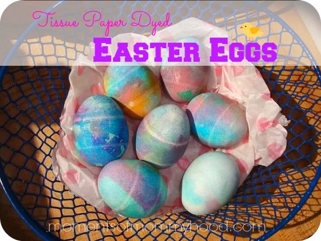 Moments Of Mommyhood Tissue Paper Egg Dyeing