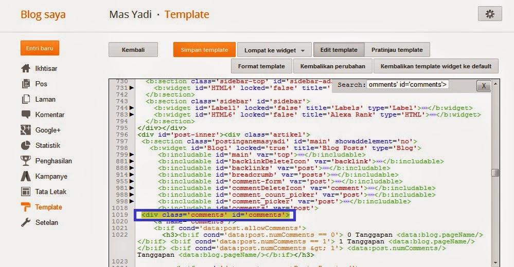 Panduan Membuat dan Memberi Scroll Pada Komentar Blog Dengan Mudah