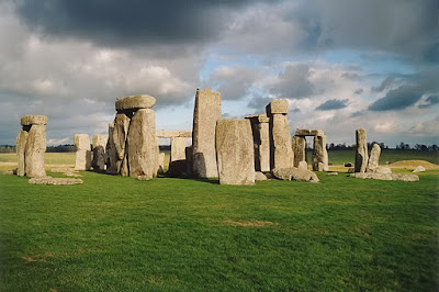 famous tourist Stonehenge in Wiltshire