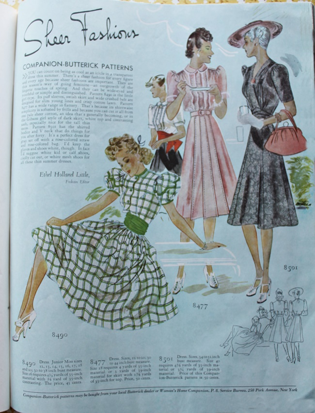 1930s full color vintage summer sheer dresses via vavoomvintage.net